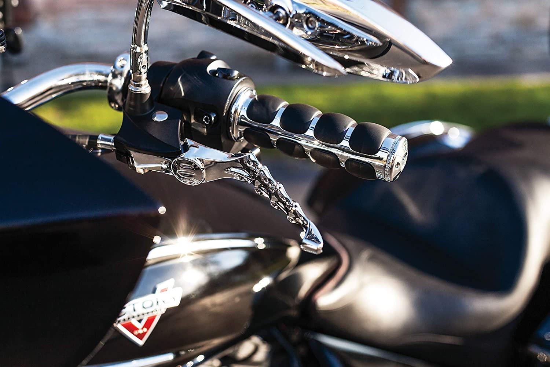 Kuryakyn 6235 Premium ISO Handlebar Grips for Throttle and Clutch: Kawasaki, Suzuki, Victory & Yamaha Motorcycles, Chrome, 1 Pair