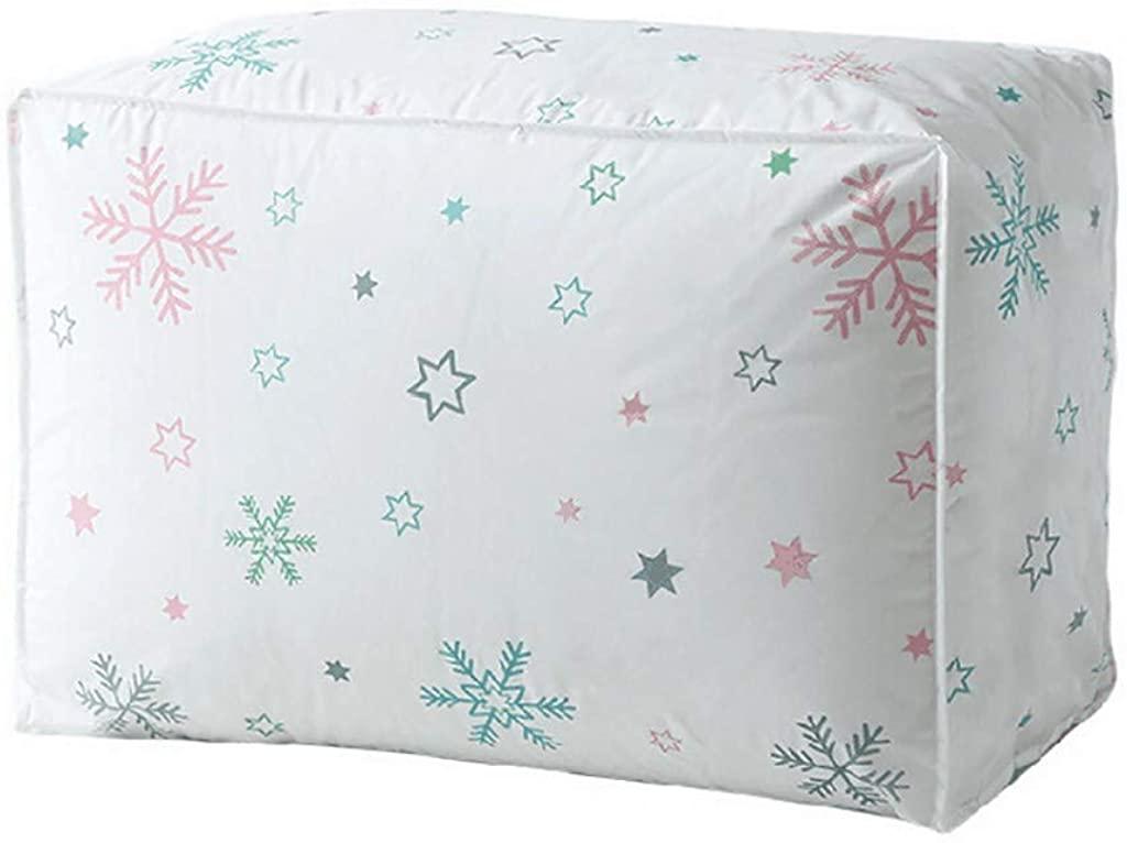 JSPOYOU Foldable Storage Bag Clothes Blanket Quilt Closet Sweater Organizer Box Pouches