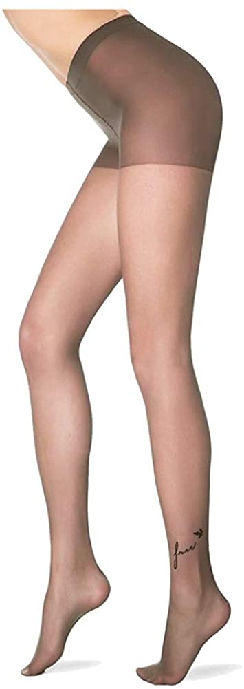 Conte elegant Shaping Slimming Decorative Tattoo Printed Pantyhose - Free