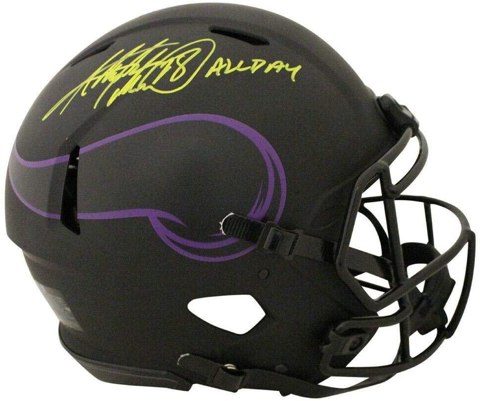 Adrian Peterson Signed Minnesota Vikings Authentic Eclipse Helmet BAS 27747 - Autographed NFL Helmets