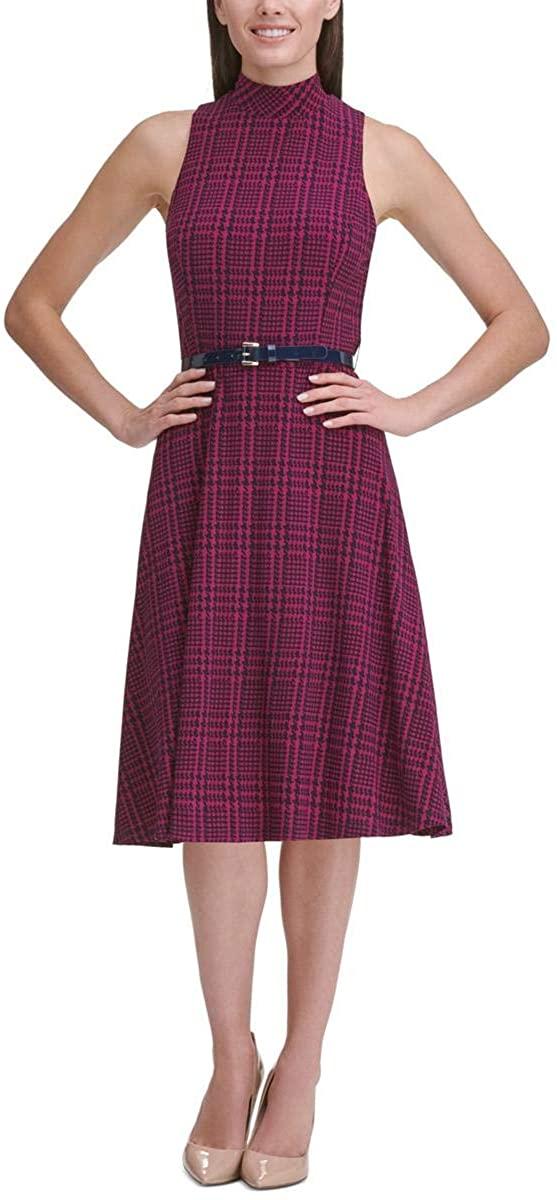 Tommy Hilfiger Womens Knit Printed Wear to Work Dress Purple 8