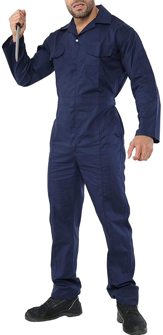 Spinbit Adults Halloween Party Myer Costume Mens Haunted House Coverall Jumpsuit Outfit One Size