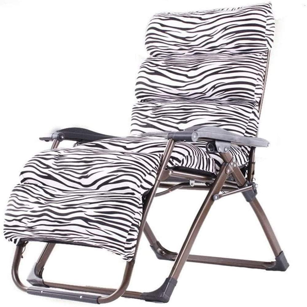 ASDFG Comfortable Garden Recliner Chair, Single Office Folding Bed, Lazy Garden Patio Balcony Outdoor Armchair,Support 200 Kg