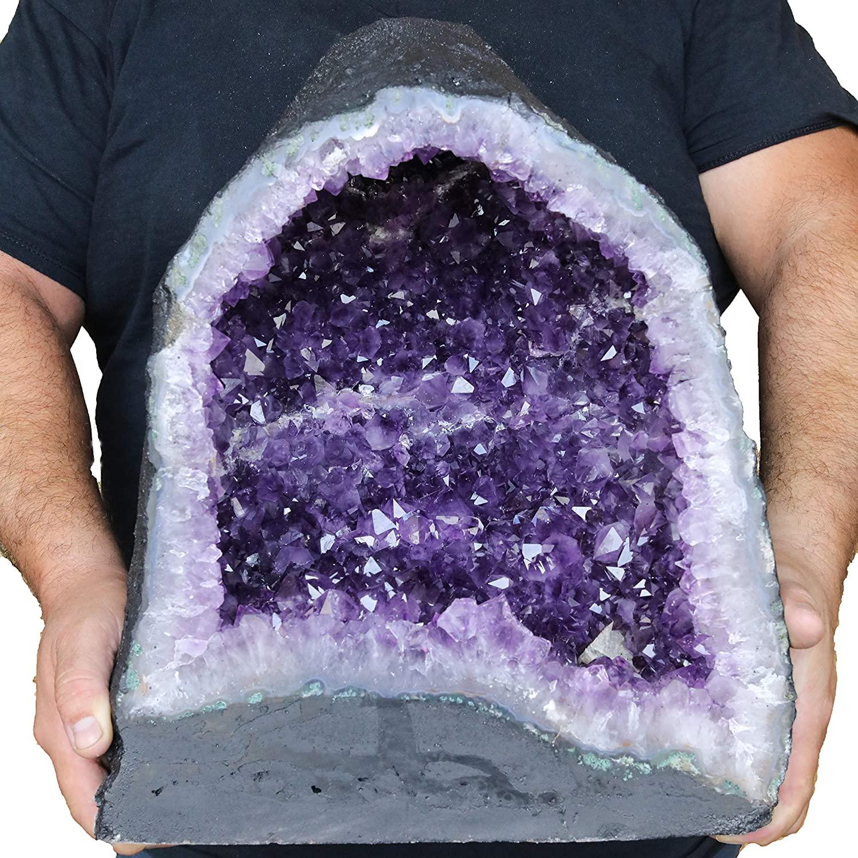 Beverly Oaks AAA Grade Amethyst Geode - Amethyst Crystal Cathedral Geode - Raw Amethyst Stone Geode - 70 lbs Amazing Amethyst Cluster (AC-152)