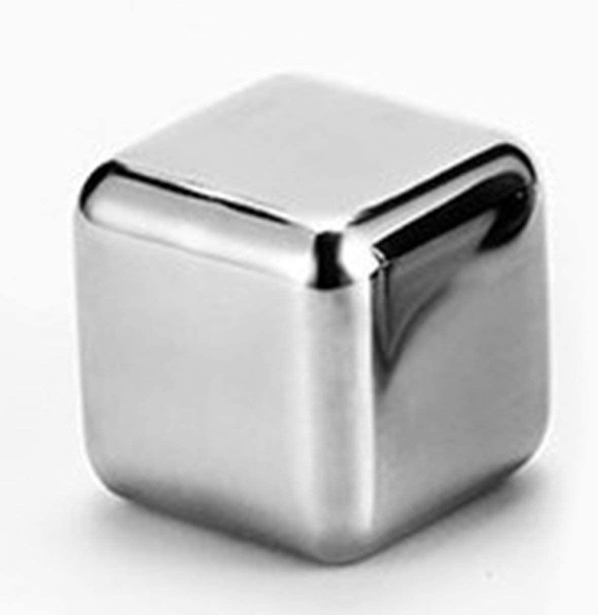Kaczmarek 1pcs Cube Whiskey Stones 27mm 304 Stainless Steel Rock Wine Taste Beer Ice Stone Bar