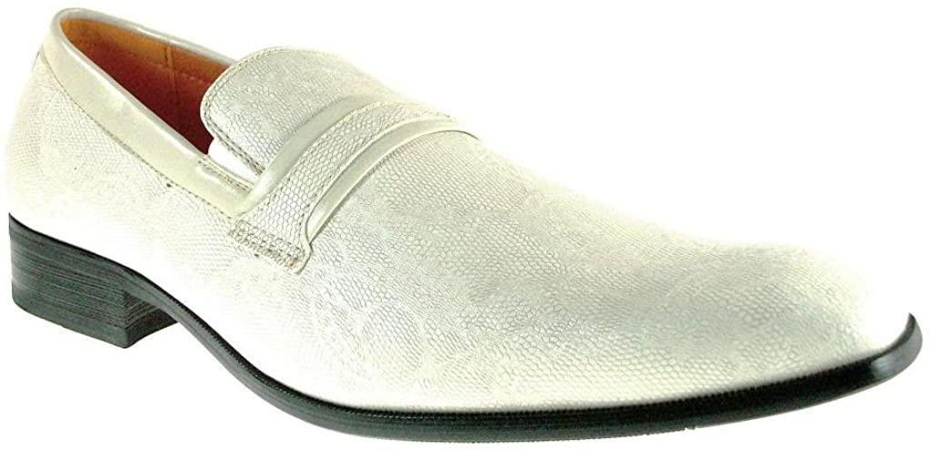 Ferro Aldo Men's 109177 Slip On Faux Snake Skin Loafer Dress Shoes