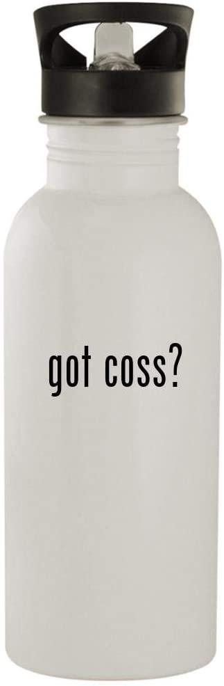 got coss? - 20oz Stainless Steel Water Bottle, White