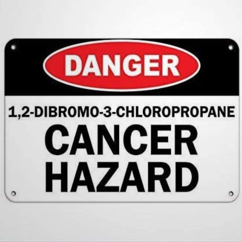 BYRON HOYLE Danger Cancer Hazard Sign Aluminum Metal Tin Sign,Rust Free,UV Protected and Waterproof,Weather Resistant,Durable Ink,Easy to Mount for Outdoors