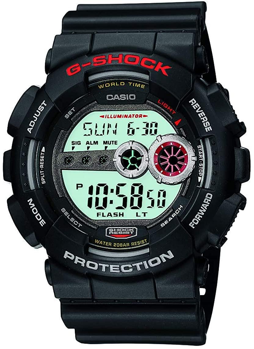 Casio Men's XL Series G-Shock Quartz 200M WR Shock Resistant Resin Color: Black (Model GD100-1A)