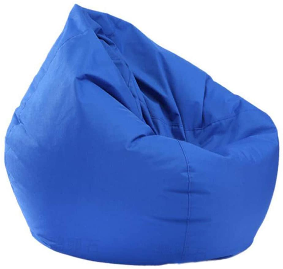 YFYTYG-PX Toys Storage Bean Bag Gaming Beanbag Chair Slipcover Waterproof and Dustproof 420D Wear-Resistant Oxford Cloth Beanbag Chair Cover No Filling,Blue,100x120cm