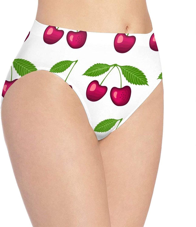N\ A Womens Underwear Briefs Cherry Seamless Ladies Panties Hipster Underpants Bikini
