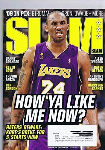 ORIGINAL Vintage September 2009 Slam Magazine Kobe Bryant Allen Iverson