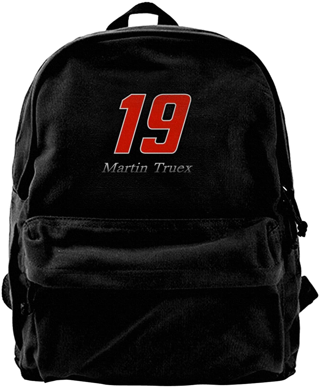 Gerneric Martin Truex Jr Canvas Backpack Lightweight Travel Daypack Student Rucksack Laptop Backpack