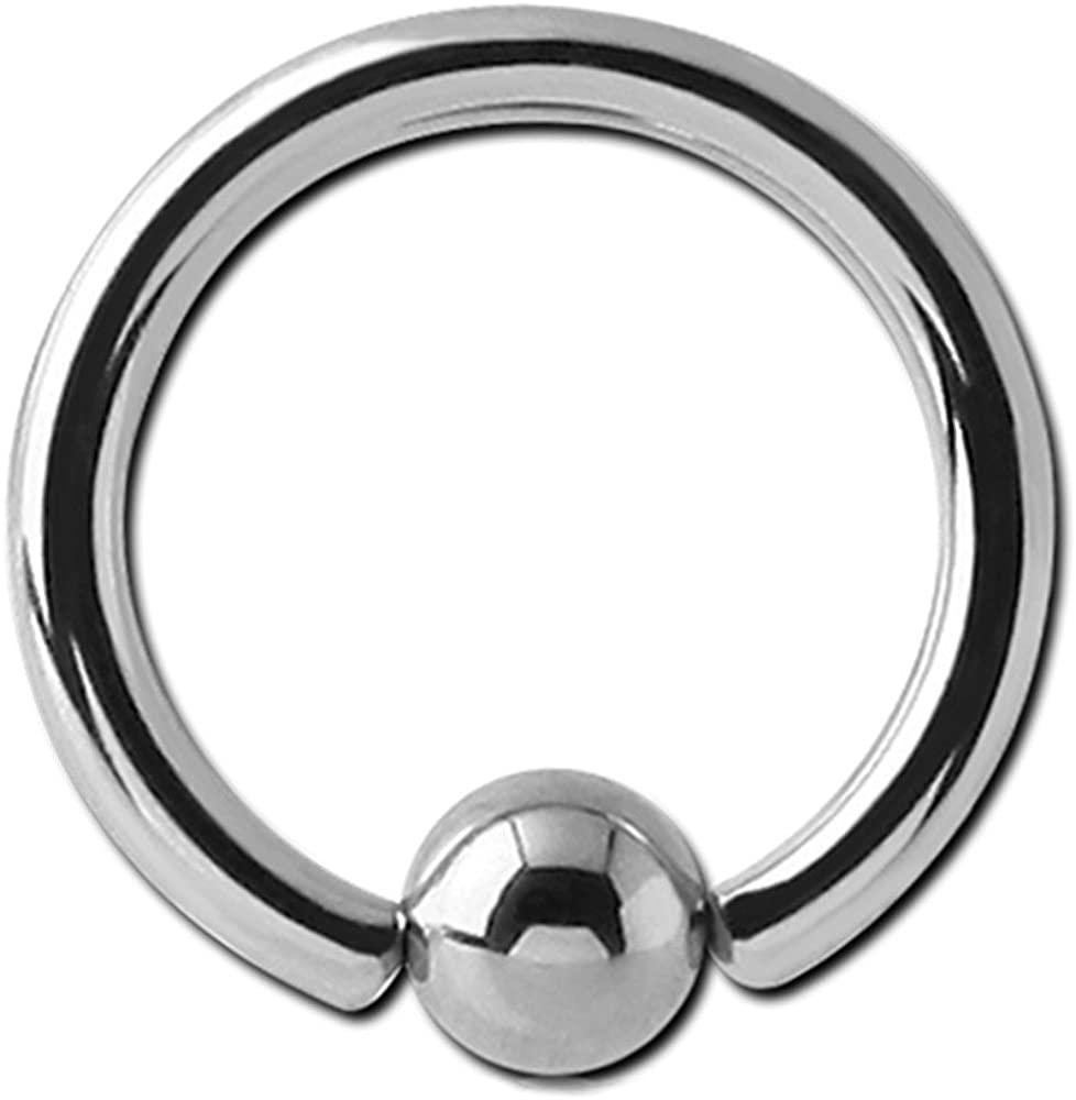 BodyJewelleryShop Surgical Steel Ball Closure Ring - 1.6mm 6mm