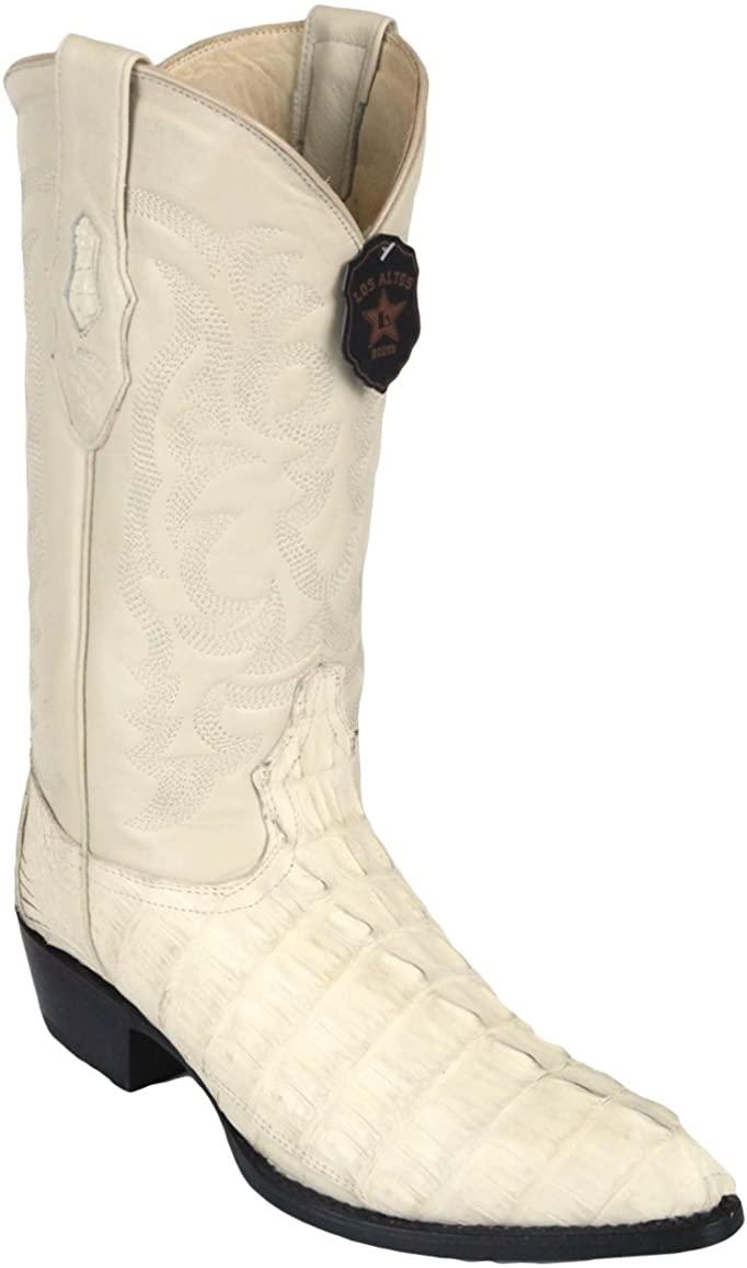 Original Off-White Caiman (Gator) Tail LeatherJ-Toe Boot