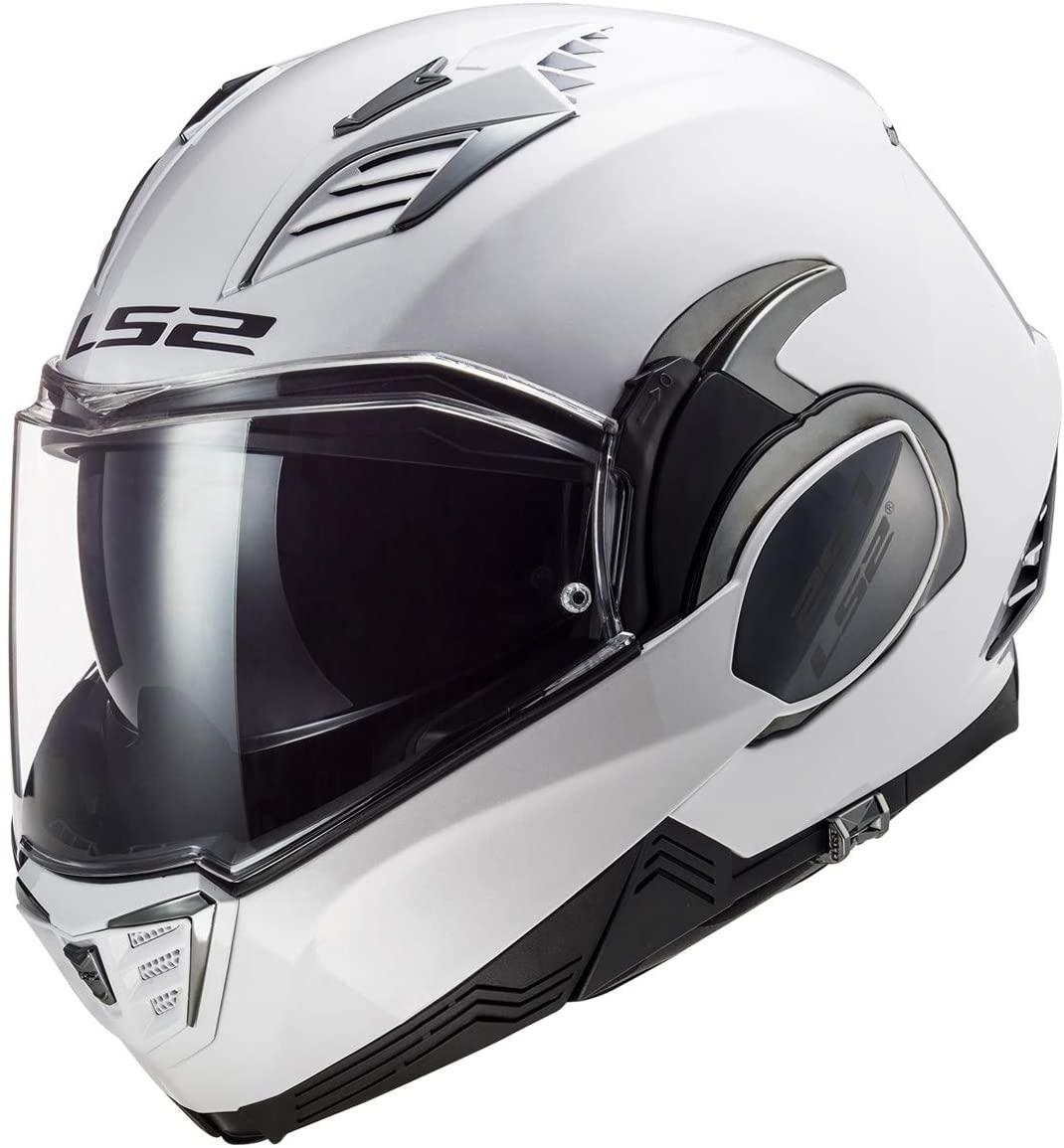 LS2 Helmets Valiant II Modular Helmet (Gloss White - Large)