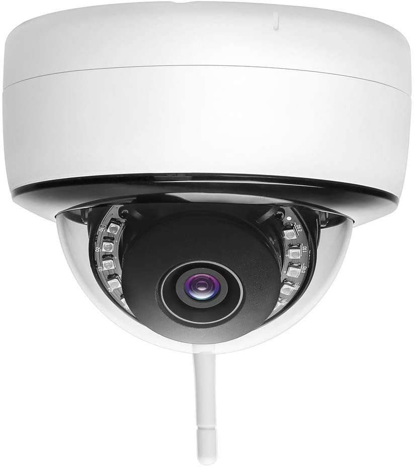 5MP Super HD WiFi IP Camera, Dome Ceiling Wireless Security Surveillance CCTV P2P Camera with Motion Detection, Onvif SD Card Slot Outdoor Night Vision 65ft (2.8mm Fixed Lens)
