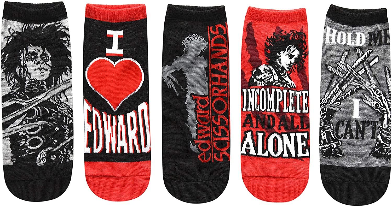 Hyp Edward Scissorhands Juniors/Womens 5 Pack Ankle Socks