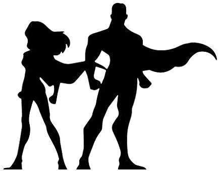 Leon Online Box Superman Couple - Movie Decal [Choice] Vinyl Sticker for Car, Bike, iPad, Laptop, MacBook, Helmet
