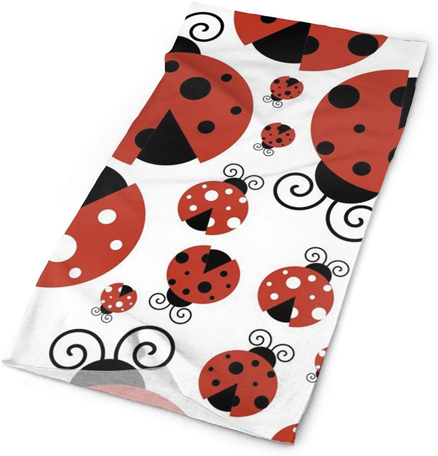 Ladybugs Face Cover,Hairband Head Band, Headband Wrap Neck Head Scarf for Men,Women and Teens