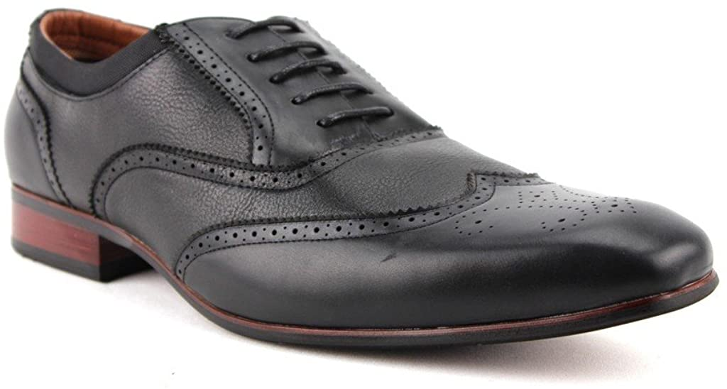 Men's 19122AL Perforated Wing Tip Lace Up Dress Oxford Shoes