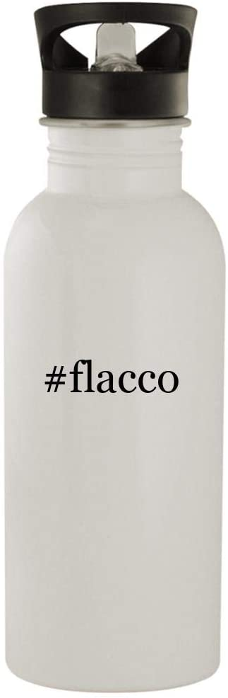 #flacco - 20oz Stainless Steel Hashtag Outdoor Water Bottle, White