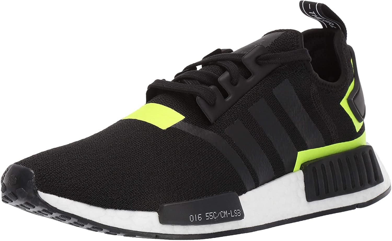 adidas Originals mens Nmd_r1 Running Shoe, Black/Black/White 1, 10.5 US