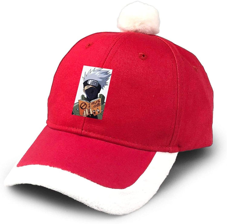 KURITIAN Naruto Kakashi Supplies Christmas Hats Children Adult Dress Up Thick Dense Velvet Non-Woven Santa Hats Red