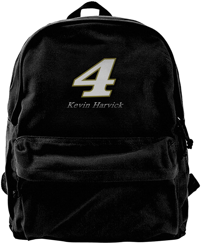Gerneric Kevin Harvick Canvas Backpack Lightweight Travel Daypack Student Rucksack Laptop Backpack