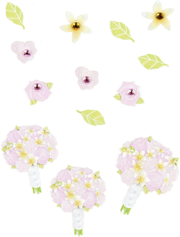 Jolee's Boutique Scrapbooking Embellishment, Pink Rose Bouquet