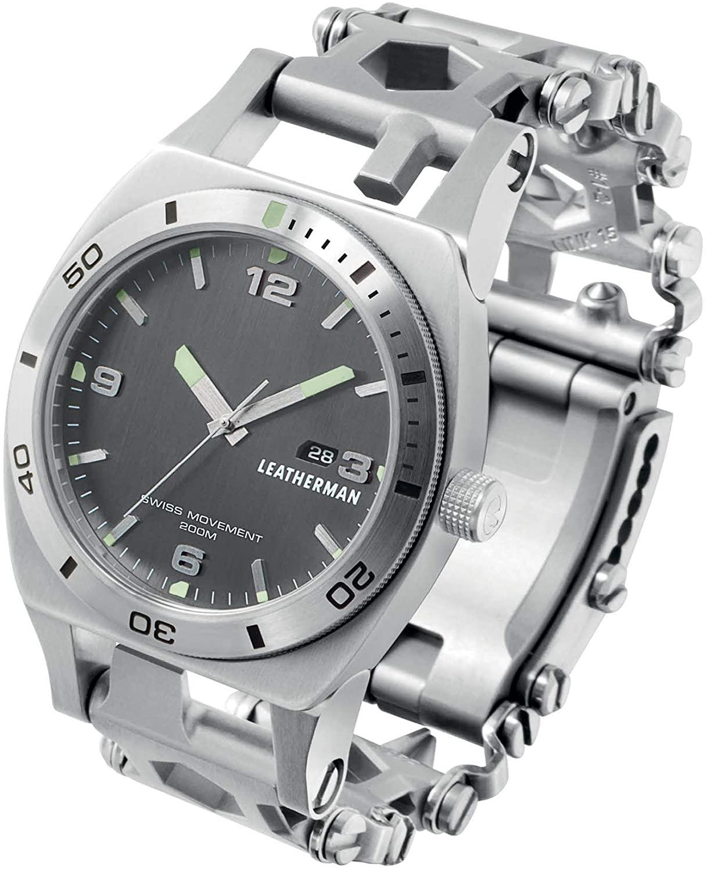 LEATHERMAN, Tread Tempo Watch, Customizable Multitool Timepiece, Stainless Steel