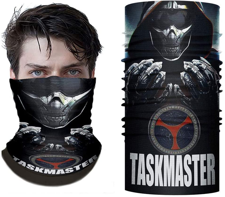 Tiff-K Natasha Romanoff Bandanas for Super Hero Black Widow Motorcycle Mask Riding Gear Neck Cover Winter Riding Mask