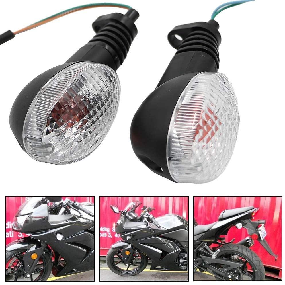 Motoparty For KAWASAKI EX250R NINJA 250R KLX250S KLX250SF VN650 Vulcan S Front/Rear Turn Signal Indicator Light Blinker Lamp Motorcycle,Transparent Shell