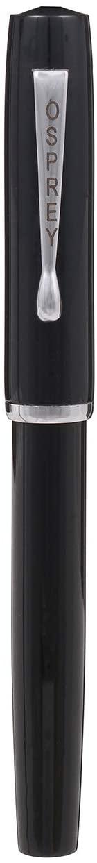 Scholar Fountain Pen Black with Standard #6 Fine and Flex Nibs Options (# 5.5 Broad SS Flex Nib with Custom Converter)