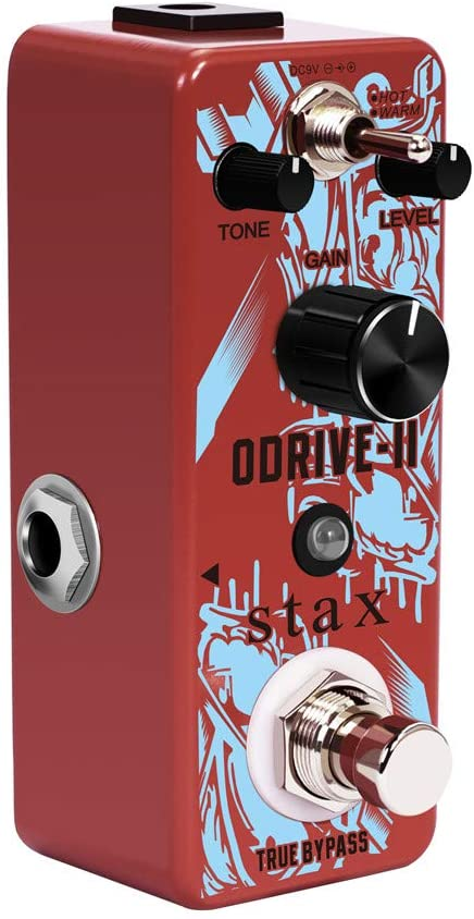 Stax Guitar Tube Screamer Overdrive Pedal Classic Tube Amp Odrive Pedals For Electric Guitar With Hot & Warm Modes Mini Size True Bypass