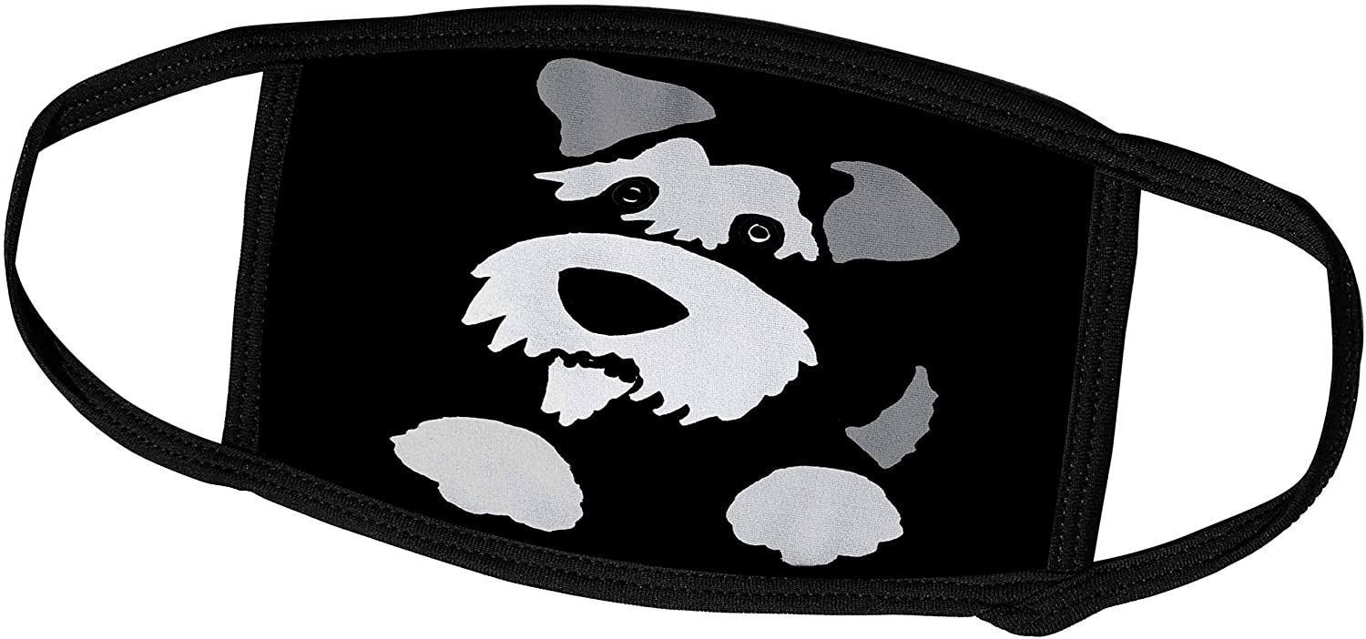 3dRose Cute Funny Miniture Schnauzer Dog Puppy Abstract Art - Face Masks (fm_325785_3)