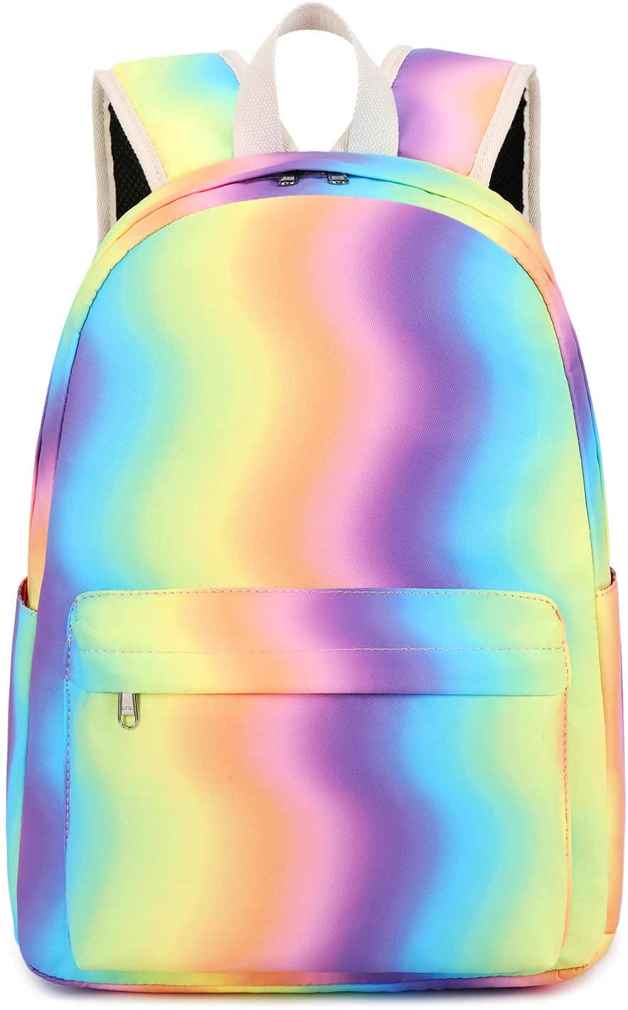 Kids Backpack for Girls Rainbow Backpack Toddler Preschool Bookbag Perfect Kindergarten Nursery Daycare Elementary (Rainbow)
