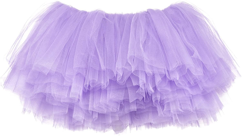 My Lello Little Girls 10-Layer Short Ballet Tulle Tutu Skirt (4 mo. - 3T)
