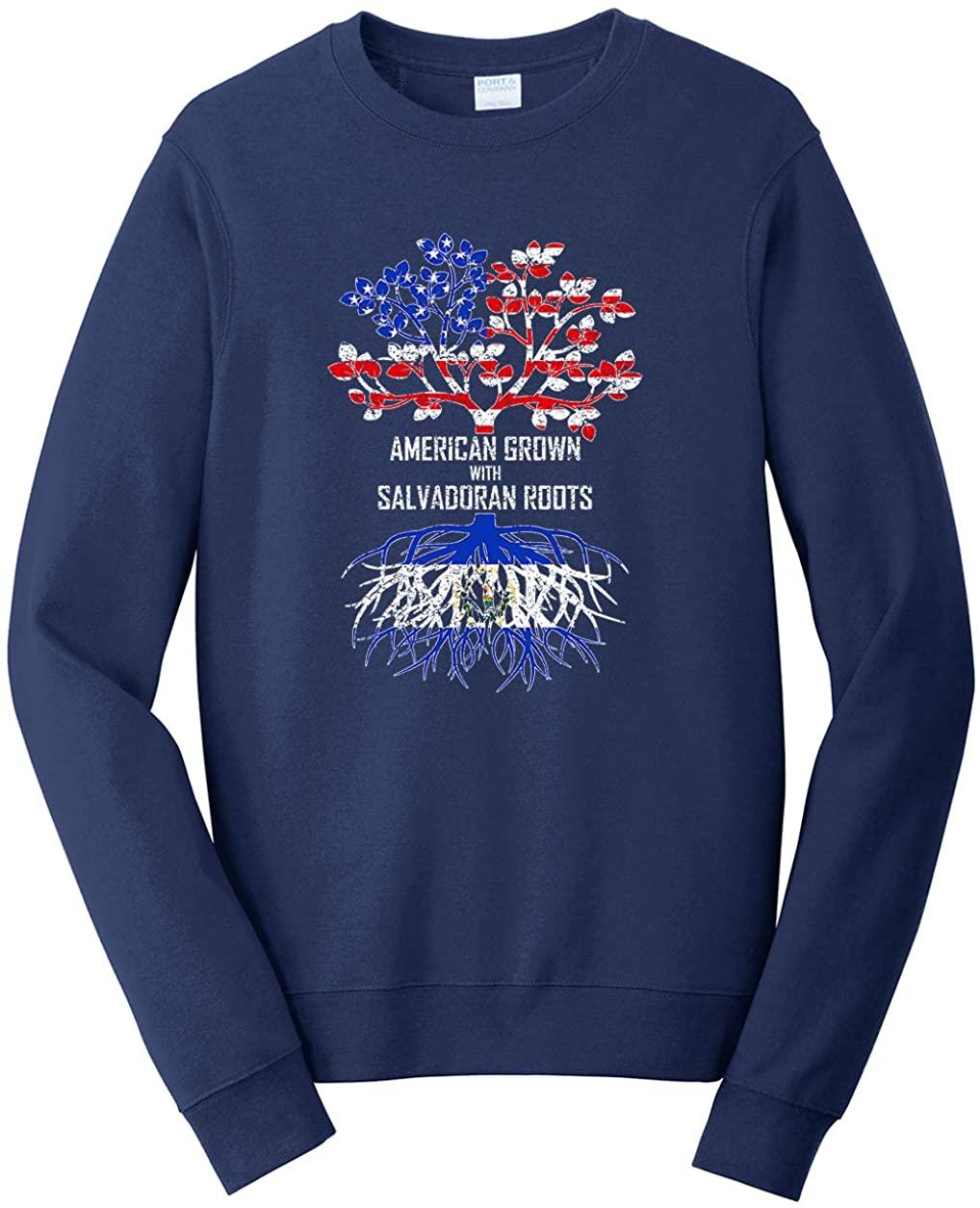 Tenacitee Men's American Grown with Salvadoran Roots Sweatshirt