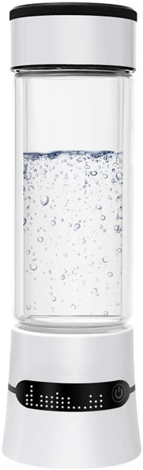 HEN'GMF Hydrogen Water Generator, Hydrogen Rich Water Cup, SPE PEM Technology Ionizer, Portable USB Rechargeable Ionized Water Generator