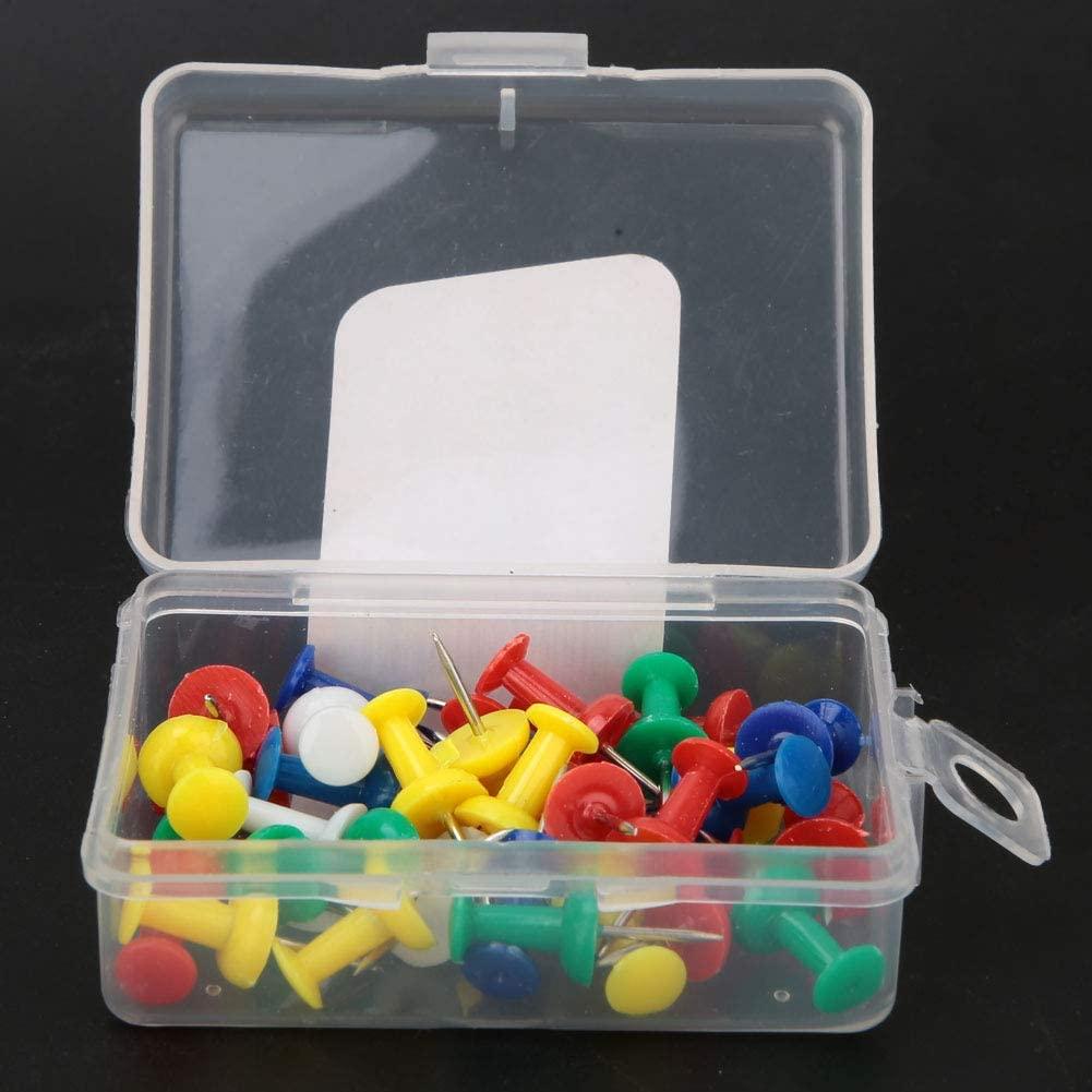Push Pins Jar, American Pushpins Sketch Writing Pushpins Thumb Tack Set Colored Pushpins, Board Pushpins 35 Pcs for Office Study