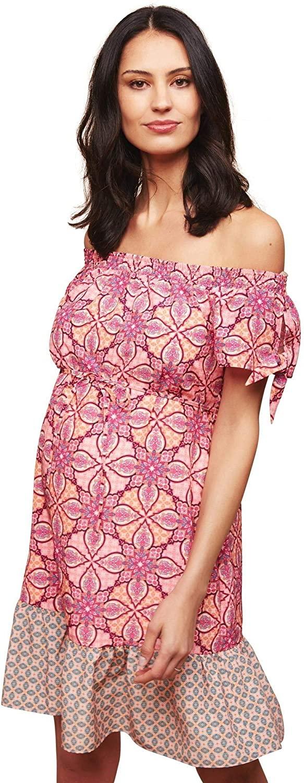 Motherhood Removable Waist Tie Maternity Dress