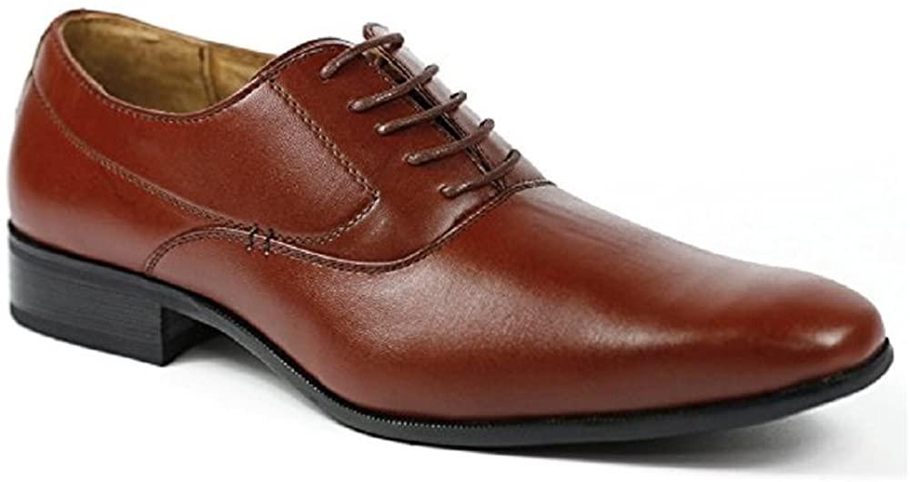 Men's Delli Aldo 19121 Smooth Classic Plain Lace-Up Oxfords Dress Shoes