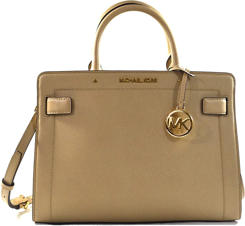 Michael Kors Women's Rayne Leather Medium East West Satchel Crossbody Bag Purse Handbag