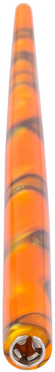 Osprey Straight PEN HOLDER with Stainless-Steel Insert - Orange with Black Swirls (Orange with Black Swirls, No Nib)