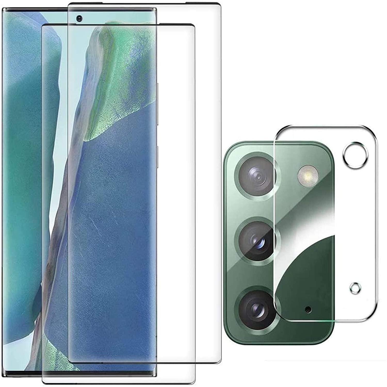 Galaxy Note 20 Screen Protector[2 Pack] + for Samsung Galaxy Note 20 Camera Lens Protector Ultrasonic Fingerprint Compatible Anti-fingerprint Anti-Scratch Tempered Glass for Samsung Galaxy Note20 5G