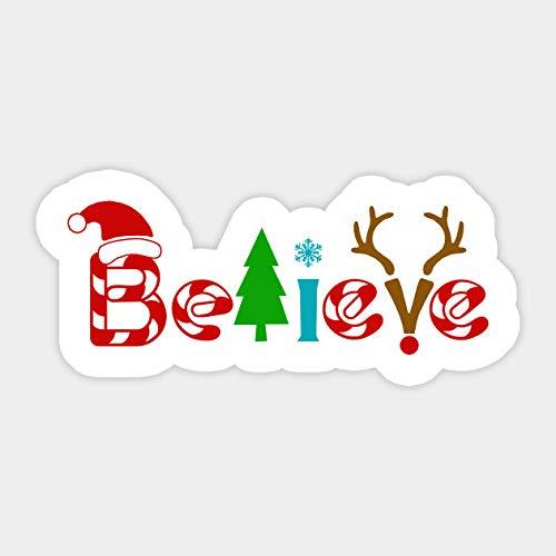 Believe, Christmas, New Year Sticker