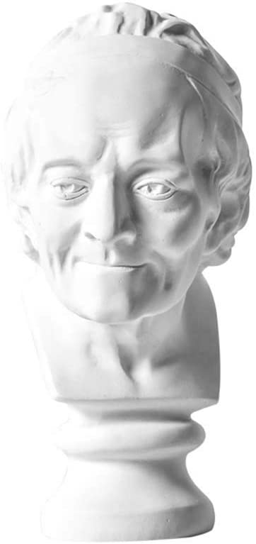 Vintage Head Statue Decoration, Resin Voltaire Portrait Craft Model Office Living Room Wine Cabinet Decoration Decoration H20CM