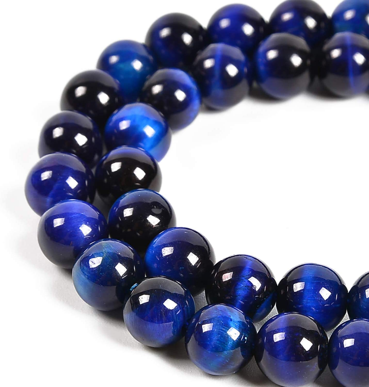 Nancybeads Natural Gemstone Round Spacer Loose Beads for Jewelry Making 15.5