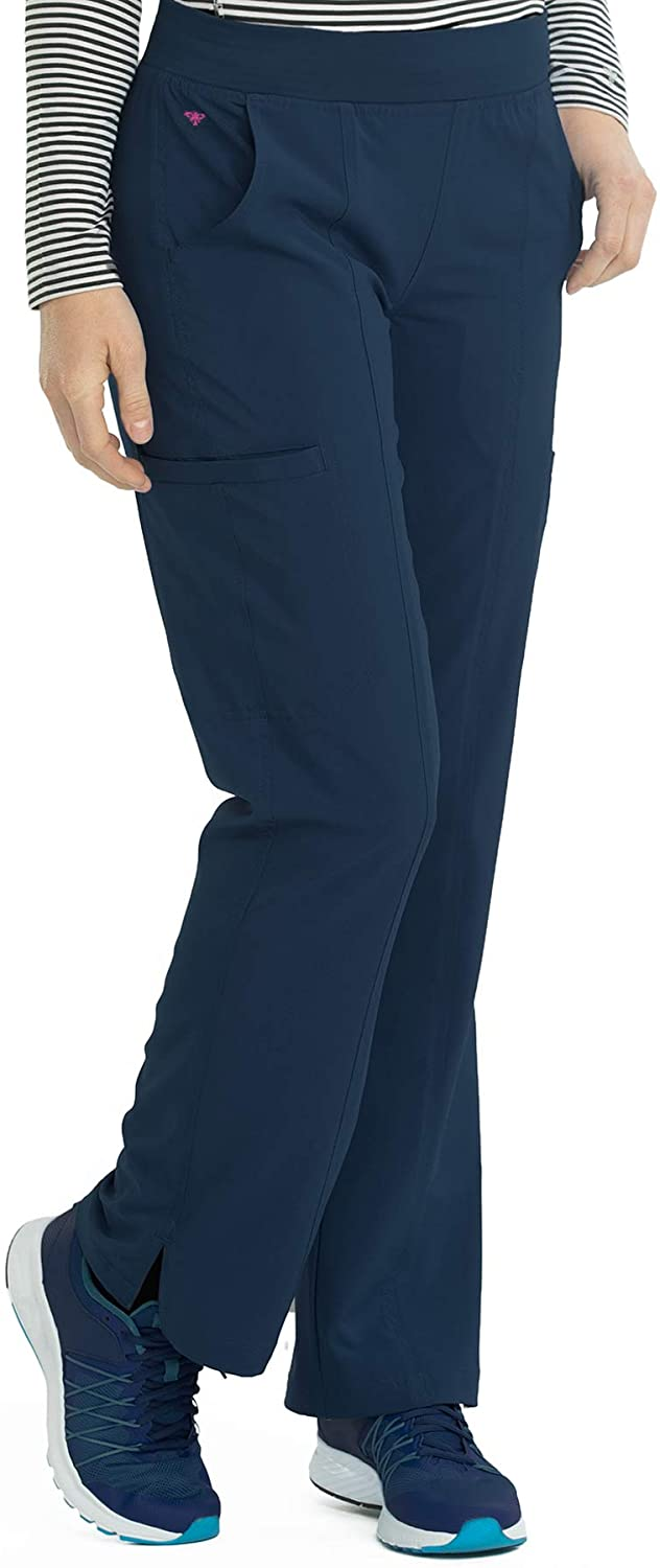 Med Couture Energy Women's Yoga Two Cargo Pocket Pant, Navy, XX-Large Petite